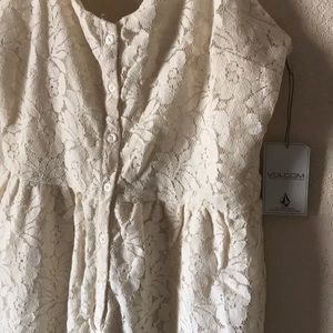 f93b20b81ad Volcom Dresses - New Volcom Not So Classic Cream Lace Dress